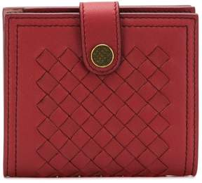 Bottega Veneta mini french wallet in Intrecciato