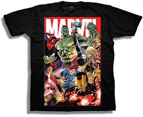 Freeze Marvel Superheroes Black Tee - Boys