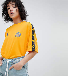 Converse Colorblock Soccer T-Shirt In Yellow