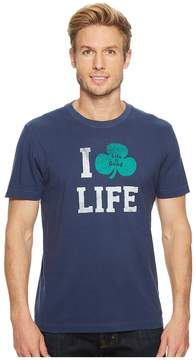 Life is Good I Shamrock Life Crusher Tee Men's T Shirt