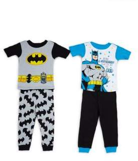 AME Sleepwear Baby's Batman Four-Piece Pajama Set