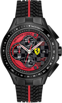 Ferrari Scuderia Watch, Men's Chronograph Race Day Red and Black Silicone Strap 44mm 830077