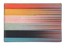 Paul Smith Men's Multicolor Leather Card Holder.