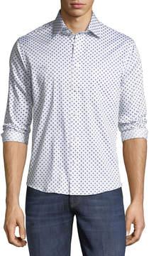 Neiman Marcus Slim-Fit Fancy Dobby Sport Shirt