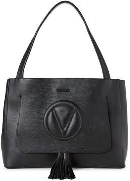 Mario Valentino Valentino By Black Ollie Leather Shoulder Bag