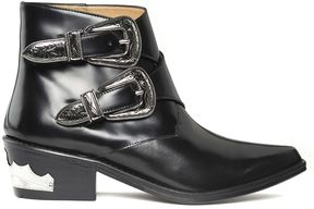 Toga Two-buckle Polished-leather Western Boots