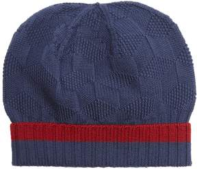 Etro Contrast-trim wool-knit beanie hat