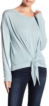Lush Tie Front Knit Top