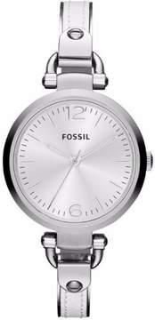 Fossil Georgia ES3259 White Analog Quartz Women's Watch
