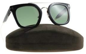 Tom Ford Alex-02 TF541 05N Black Green Square Sunglasses 51mm