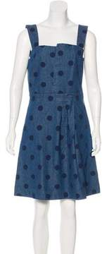 Band Of Outsiders Polka Dot Denim Dress