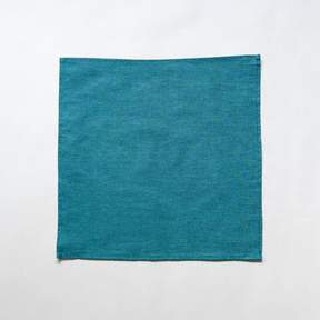 Blade + Blue Solid Teal Chambray Pocket Square
