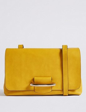 Marks and Spencer Faux Leather Bar Detail Shoulder Bag