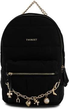 Twin-Set charm chain detail backpack