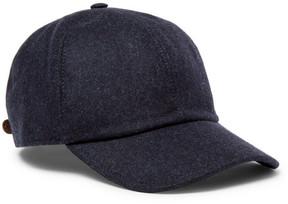 Brunello Cucinelli Leather-Trimmed Mélange Wool Baseball Cap