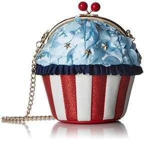 Betsey Johnson Backed in The USA Americana Cupcake Bag