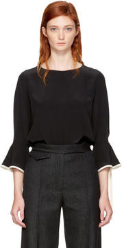 Chloé Black and Ivory Silk Blouse