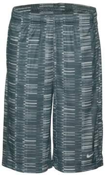 Nike Big Boys' (8-20) Dri-Fit All Over Print Training Shorts-Gray-Small
