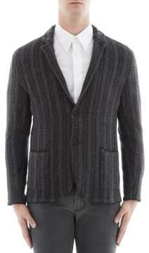 Lardini Men's Grey Wool Blazer.