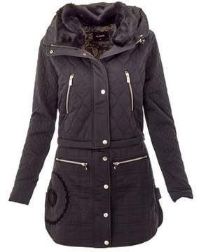 Desigual Women's Black Polyester Outerwear Jacket.