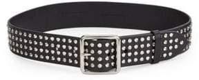 Alexander McQueen Silver Stud Leather Belt