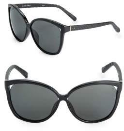 Linda Farrow Luxe 62MM Oversized Cat Eye Sunglasses
