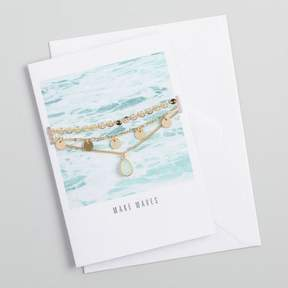 World Market Gold Choker Necklaces Gift Set with Greeting Card