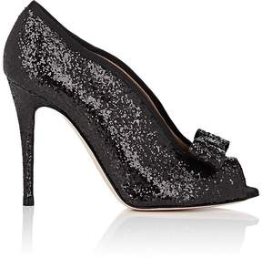 RED Valentino WOMEN'S BOW-EMBELLISHED GLITTER PUMPS
