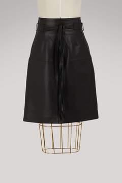 Vanessa Bruno Isko leather skirt