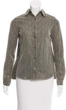 Timo Weiland Long Sleeve Button-Up Top
