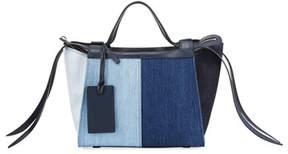 Elena Ghisellini Usonia Medium Patchwork Jeans Tote Bag