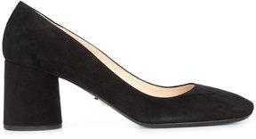 Prada block heel pumps