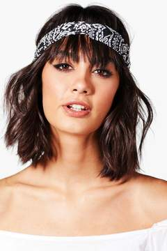 boohoo Amy Aztec Print Twist Knot Headband
