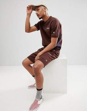 Champion x Wood Wood Short Sleeve Boredom Sweat In Brown