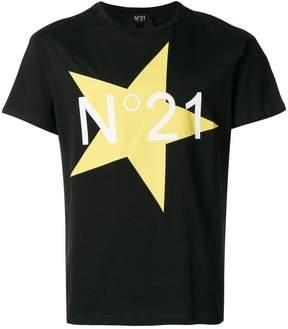No.21 Star logo T-shirt