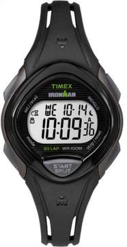 Timex Women's Ironman Sleek 30 Black Watch, Resin Strap