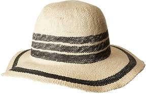 San Diego Hat Company PBF7311OS Fedora w/ Pop Color Stripes Caps