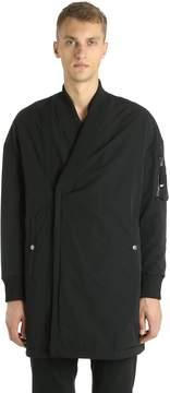 Diesel Black Gold Long Technical Fabric Bomber Jacket