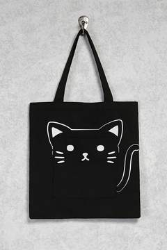 Forever 21 Cat Pocket Tote Bag