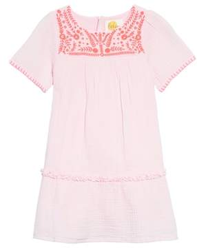 Boden Mini Embroidered Woven Caftan Dress