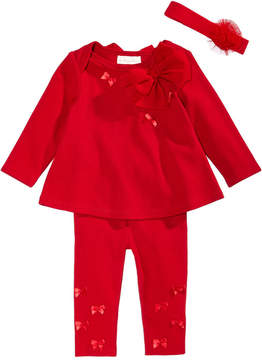 First Impressions 3-Pc. Headband, Bow Tunic & Leggings Set, Baby Girls (0-24 months), Created for Macy's