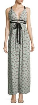 WAYF Plunging Floral Gown