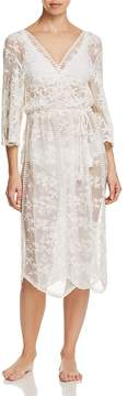 Flora Nikrooz Tracey Embroidered Mesh Robe