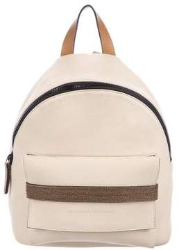 Brunello Cucinelli Beaded Leather Backpack