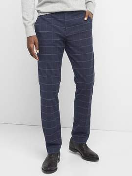 Gap Brushed Cotton Pattern Pants in Slim Fit with Stretch