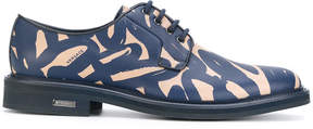 Versace scribble effect lace-up shoes
