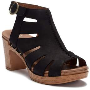 Dansko Demetra Leather Block Heel Sandal