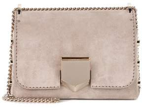 Jimmy Choo Lockett Petite suede shoulder bag