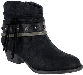 Mia Black Cowgirl Ankle Boot
