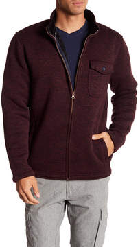 Weatherproof Melange Polar Fleece Zip Sweater